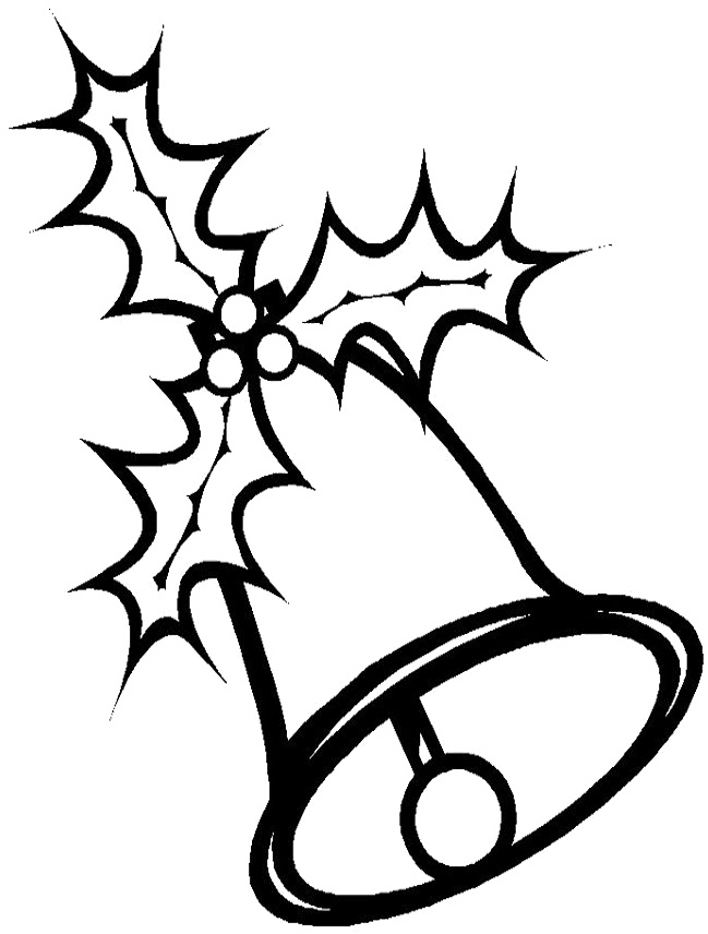 Christmas Clipart Black And White.Christmas Bell Template Many Interesting Cliparts