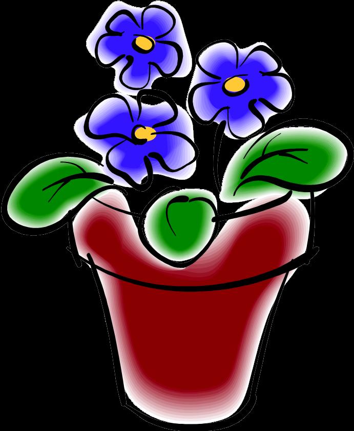 Детские рисунки цветок в горшке