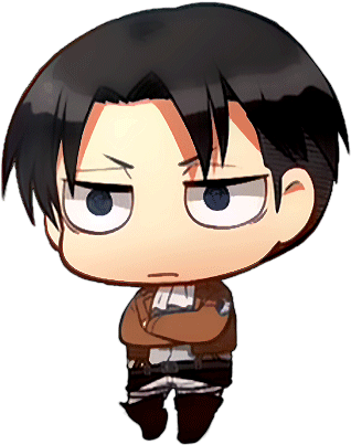 Anime Chibi Attack On Titan Wallpaper Levi 500x405 Png Clipart Download