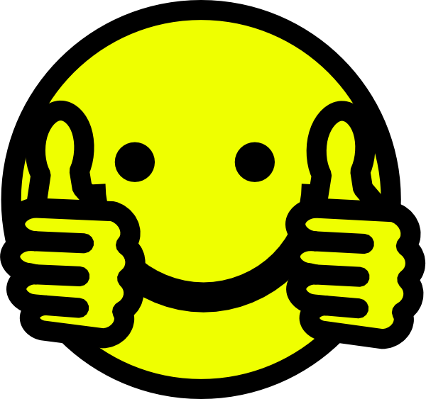 Thumbs Up Smiley Clip Art At Clker Com Vector Clip - Smiley (600x563)