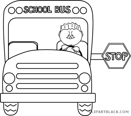 - Bus Outline Transportation Free Black White Clipart - School Bus Safety  Coloring Page - (450x400) Png Clipart Download