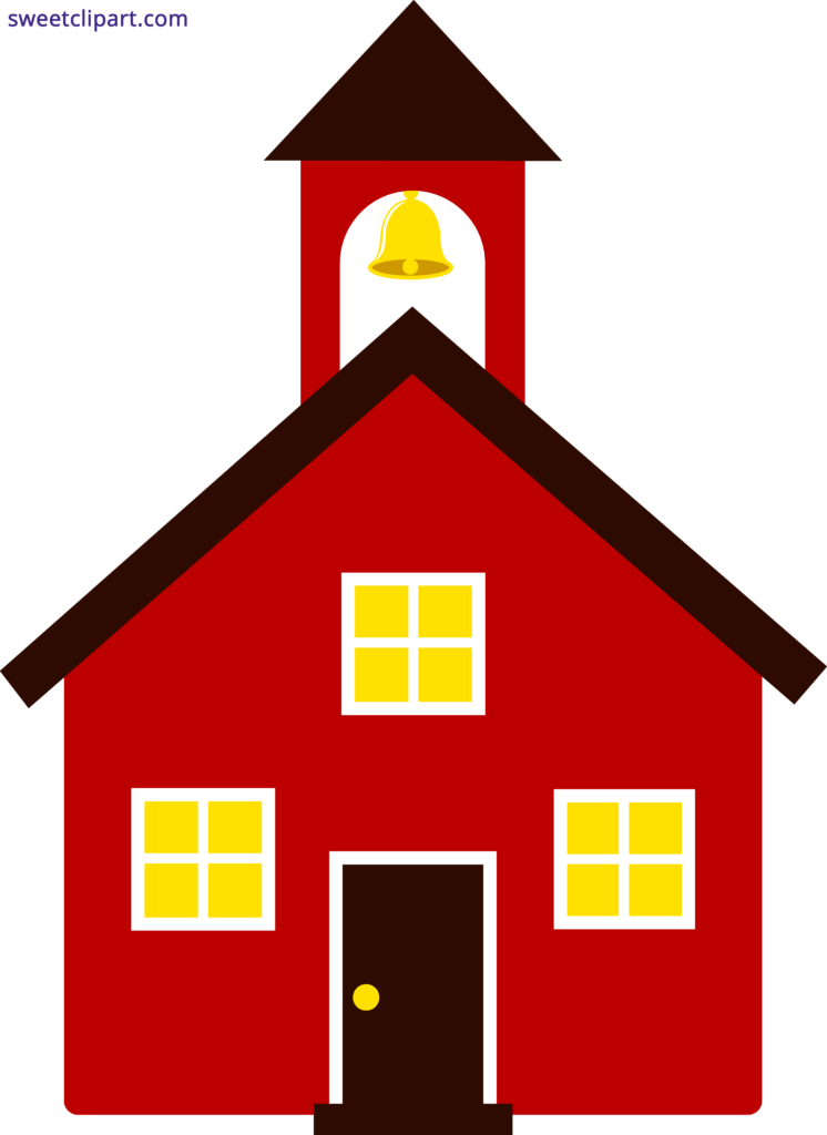 School House Red Clipart Schoolhouse - Red School House Clip Art (746x1024)