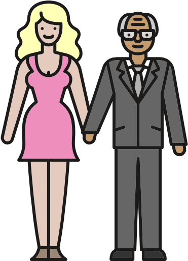 28 Collection Of Young People Clipart Png Old Man And Young Woman
