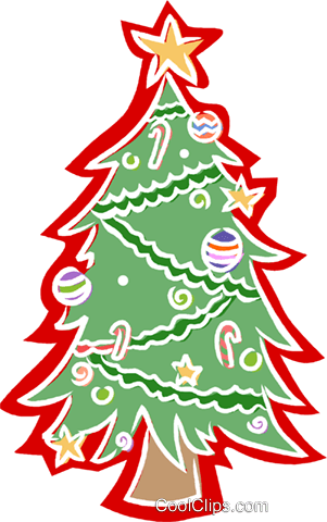 Christmas Tree Royalty Free Vector Clip Art Illustration Angel Tree 301x480 Png Clipart Download