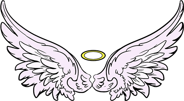 Simple Wings Drawing Free Download Best X - Angel Wings Drawing Simple (678x600)