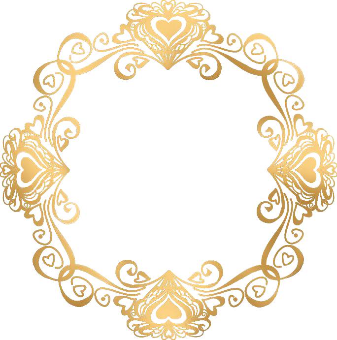Gold Picture Frames, Pictures, Clip Art, Oval Frame, - Wedding Invitation Gold Border (684x691)