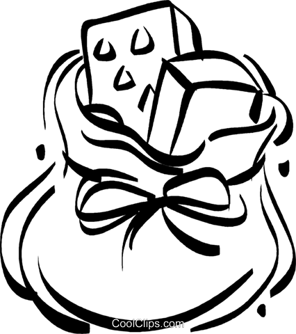 Toy Sack Full Of Presents Royalty Free Vector Clip - Santa Claus' Sack (426x480)