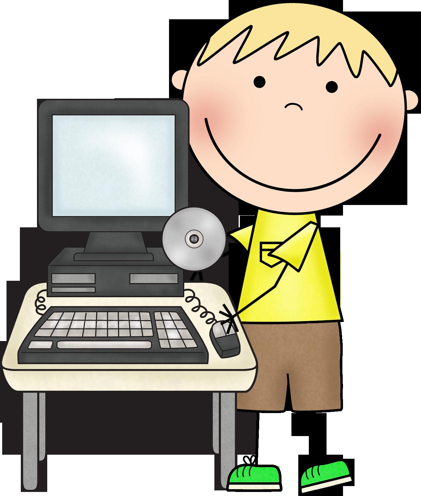Компьютер в прикольных картинках для детей, крещением стихах