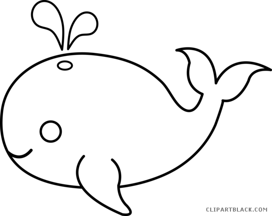 ocean animals animal free black white clipart images whale cut out
