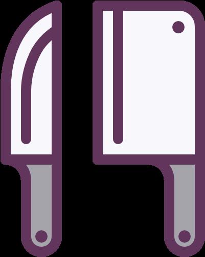 Messer Kuchengerate Kochen Symbol Iconos Utensilios De Cocina