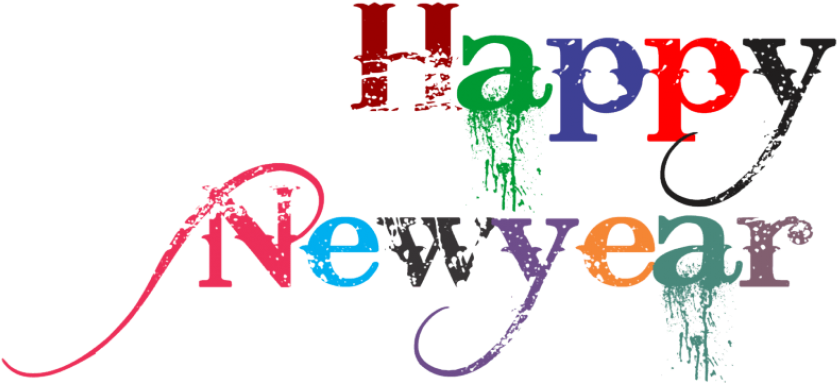 Happy New Year Clipart Font Happy New Year 2019 Png 850x425