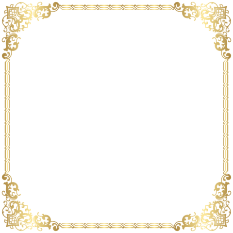 Download Gold Border Frame Transparent Clipart Png - Transparent Background Gold Border (480x480)