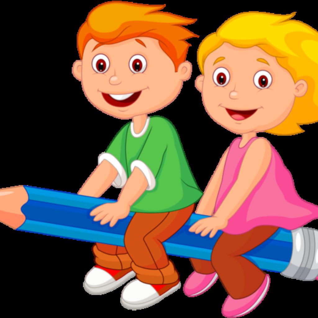 School Children Clip Art Personnages Illustration Individu - Lkg Students Clipart (1024x1024)