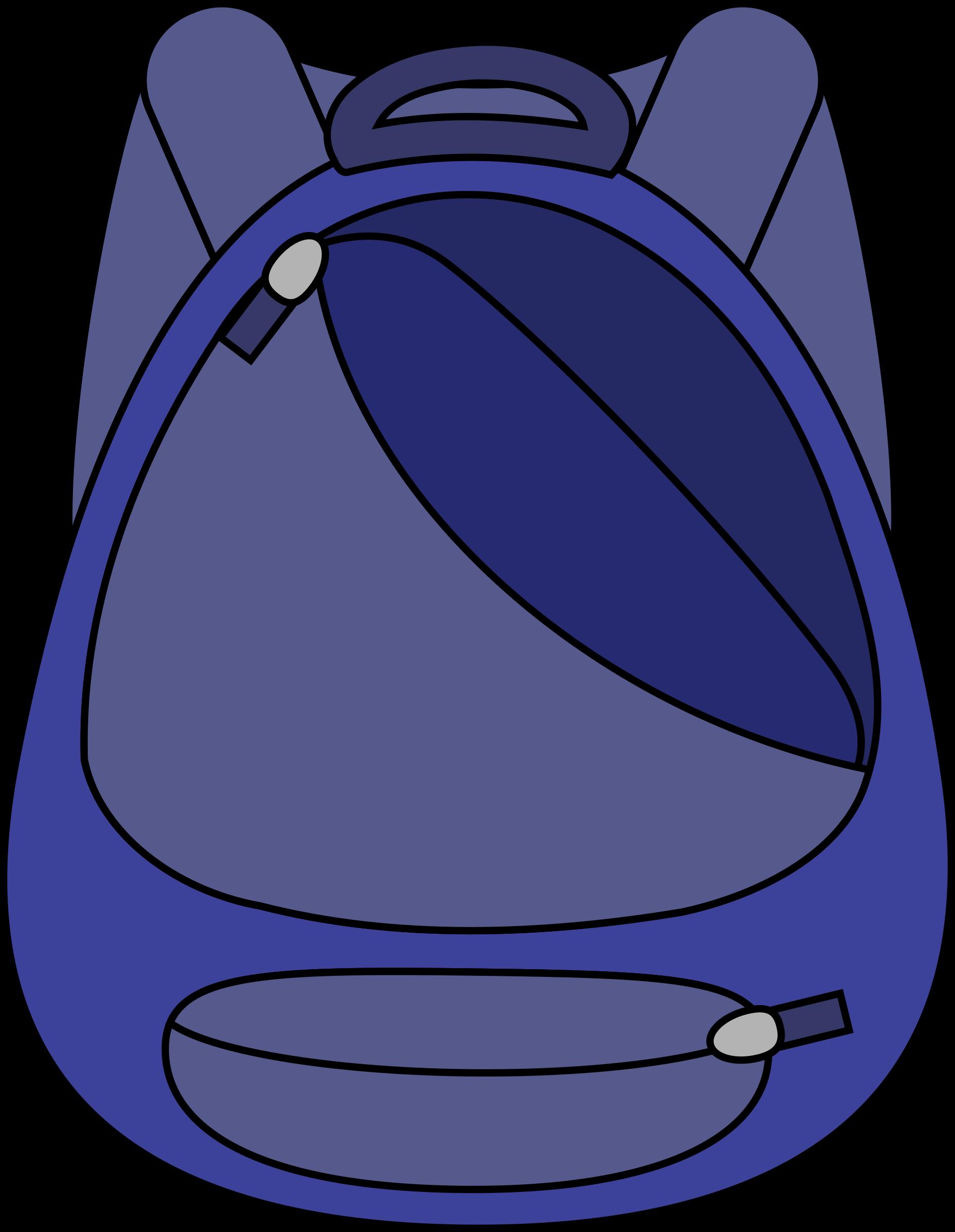 Medium Image - School Bag Clipart (1860x2400)