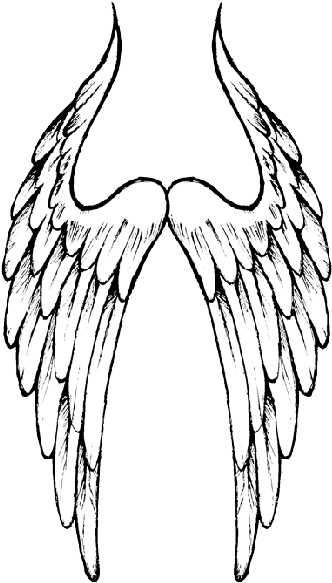 Angel Wings Hd Image Png Images Sketch 349x600 Png Clipart Download