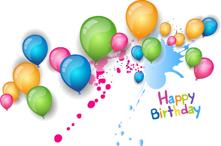 Birthday Wish Greeting Card Wedding Invitation - Happy Birthday Background Design (858x569)