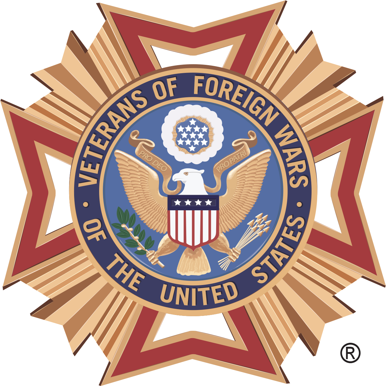 Vanguard Is Excited To Now Be Teamed With The Vfw - Veterans Of Foreign Wars Vector Logo (1314x1249)