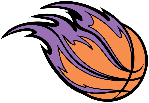 Ball Clipart Baskett - Purple Basketball Logo - (601x415) Png Clipart  Download