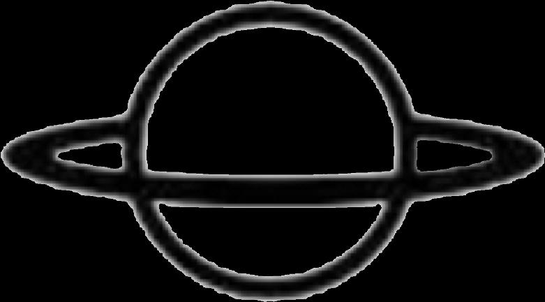#planet #space #line #shape #black #circle #ring #outerspace - Black Circle Ring (1024x896)