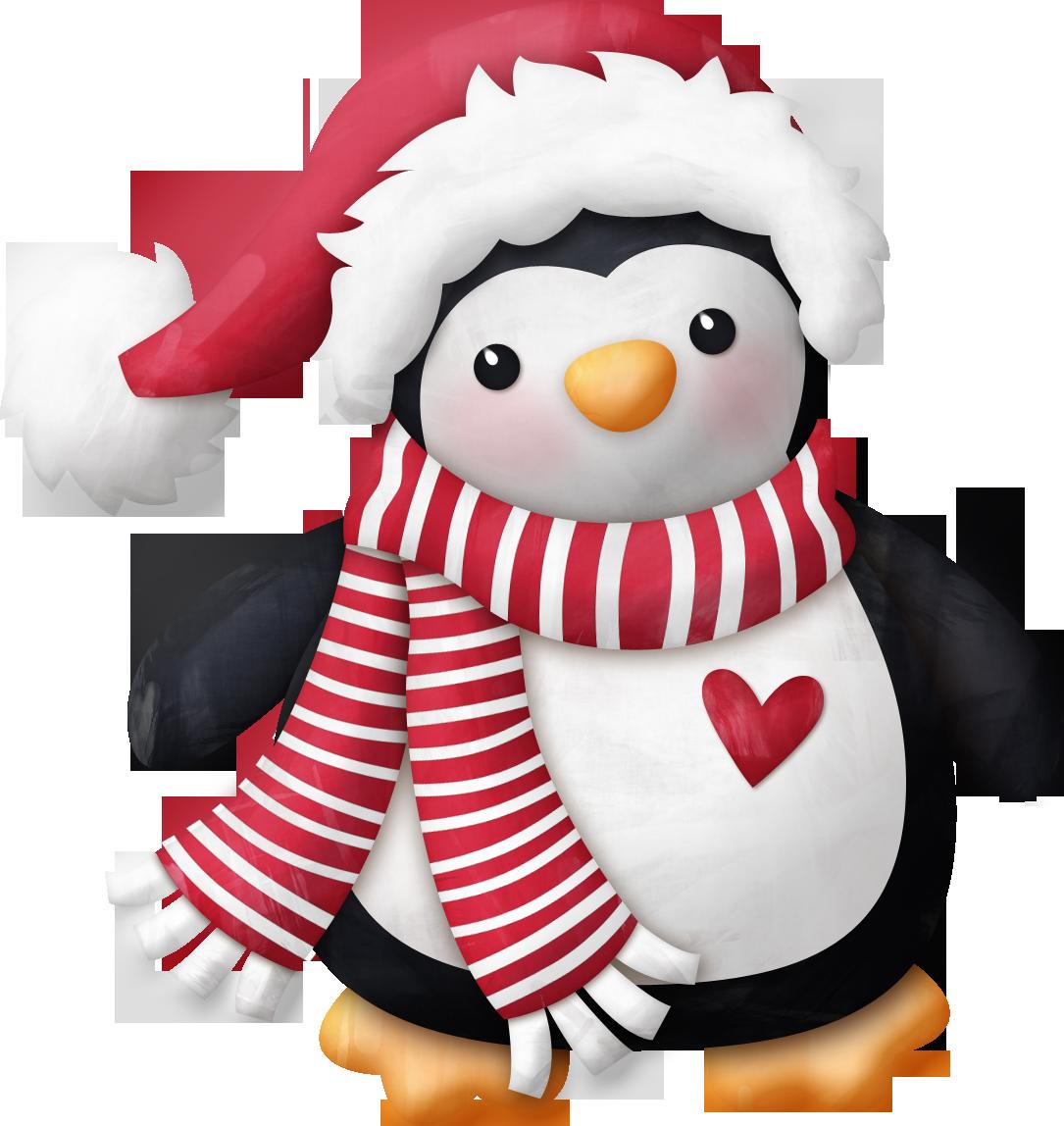 новогодние пингвины картинки написать