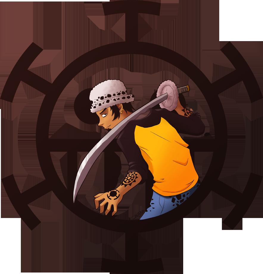 Trafalgar Law By Sonozdark Trafalgar Law By Sonozdark - Heart Pirates Jolly Roger (883x920)