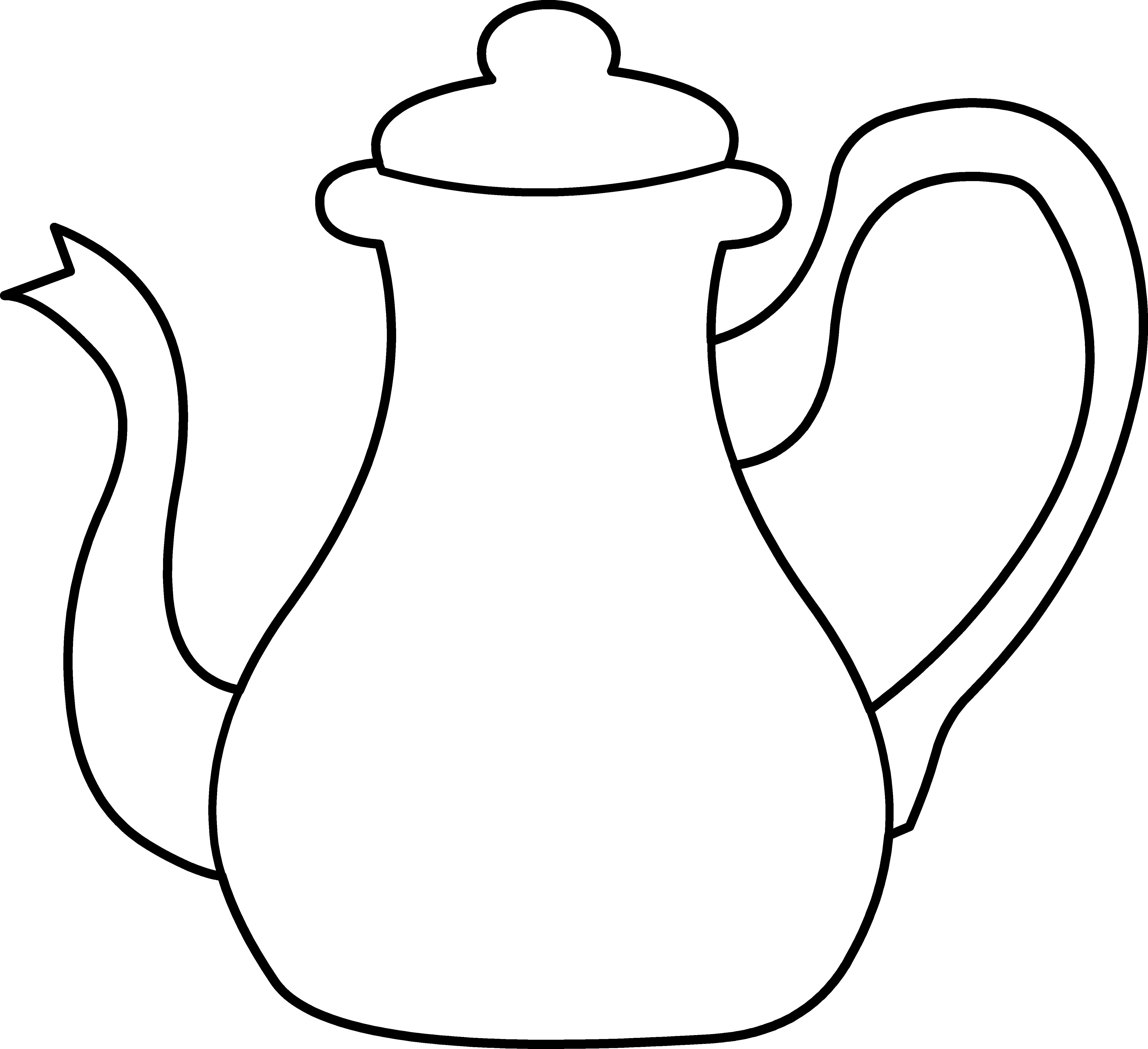 Картинка черно-белая кувшин