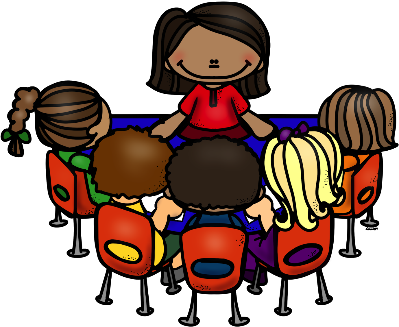 reading group cliparts - teacher table clip art - (1600x1200) png