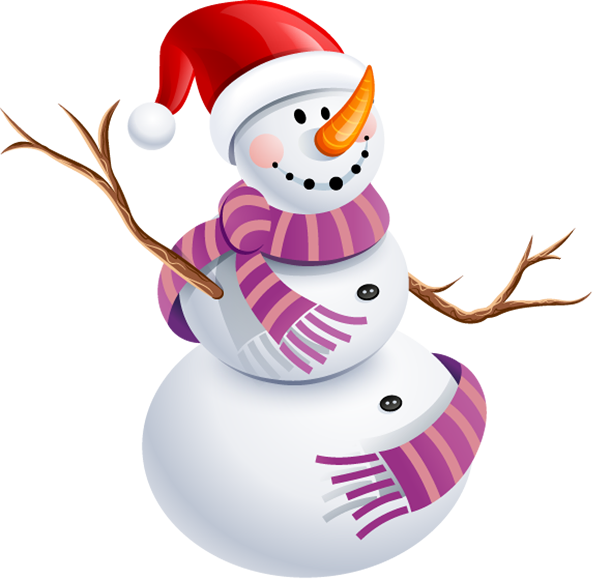 Snowman With Purple Scarf Png Picture - Snow Man Png (1200x1172)