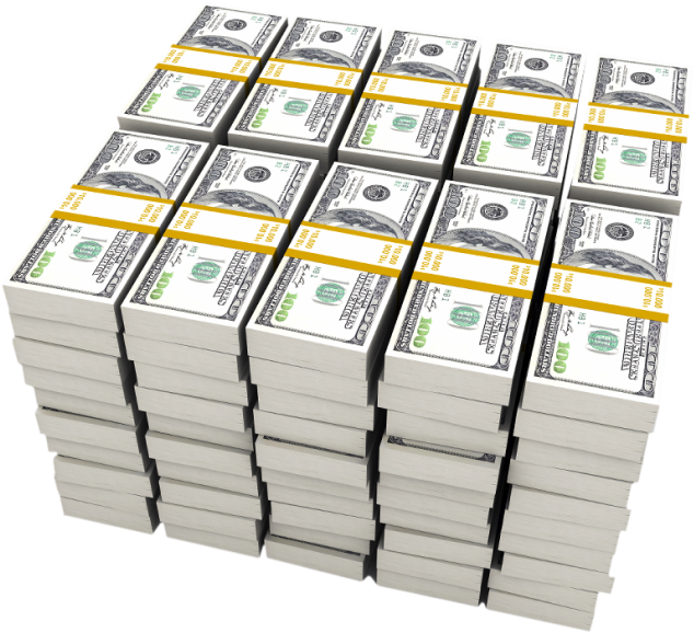 28 Collection Of Stack Of Money Clipart - 1 Million Dollars