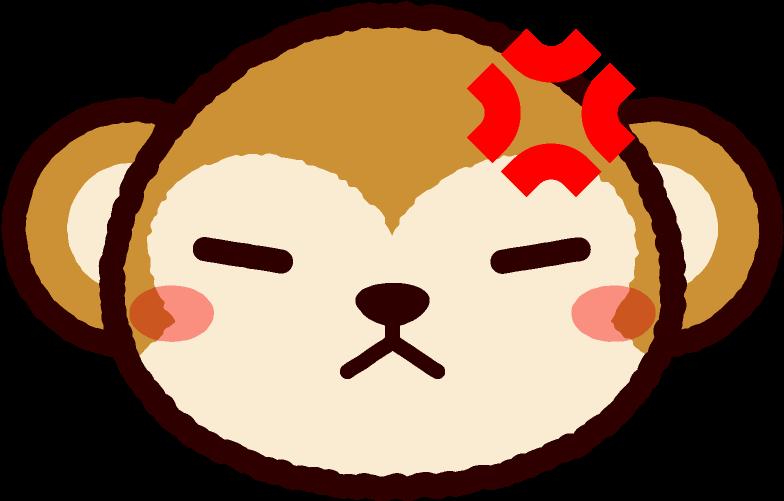 怒った猿の顔のイラスト Monkey 851x602 Png Clipart Download