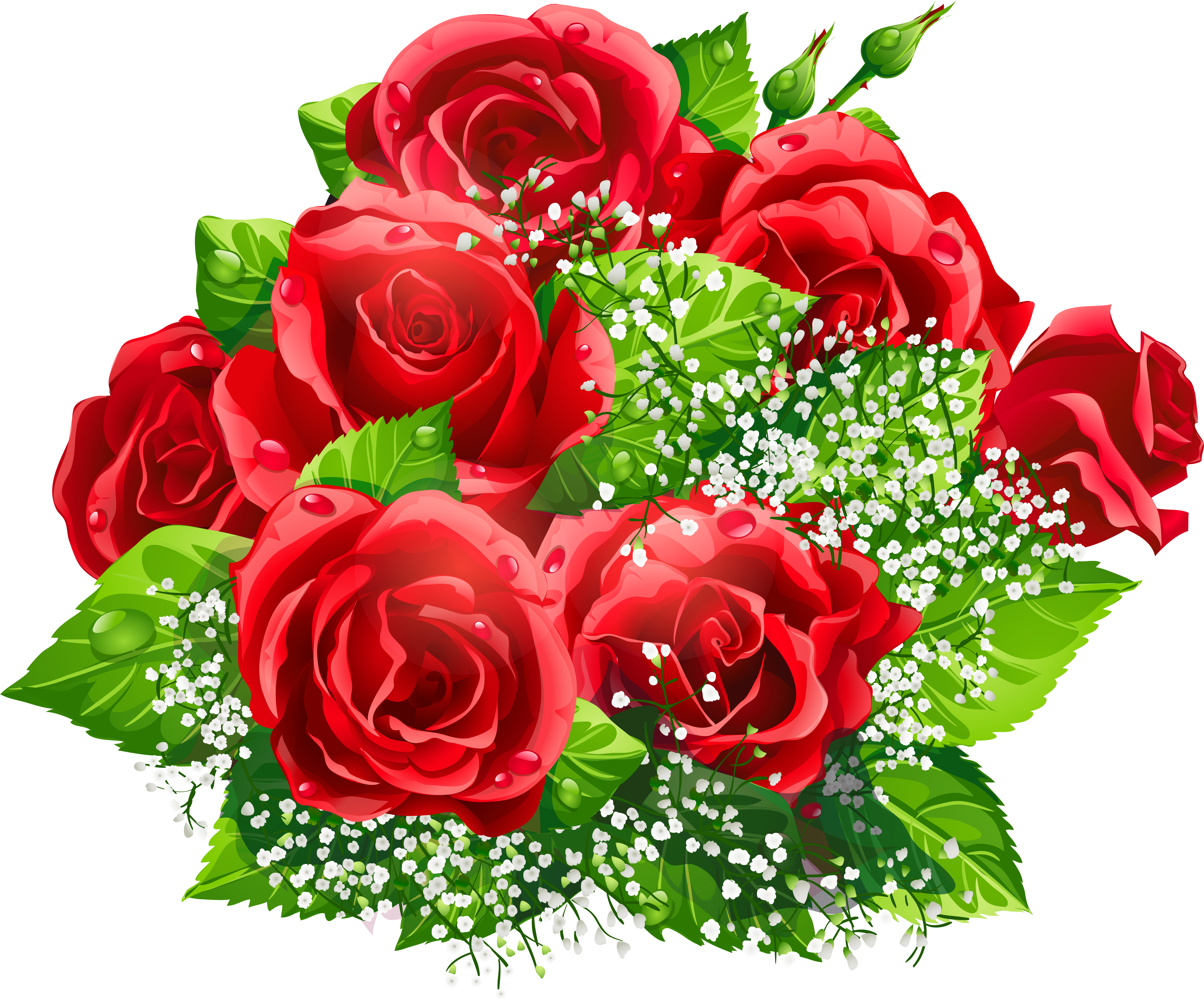 Анимашки букеты цветов