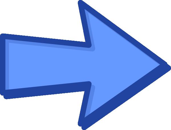 How To Set Use Blue Arrow Blue Svg Vector - Clip Art Blue Arrow (600x457)