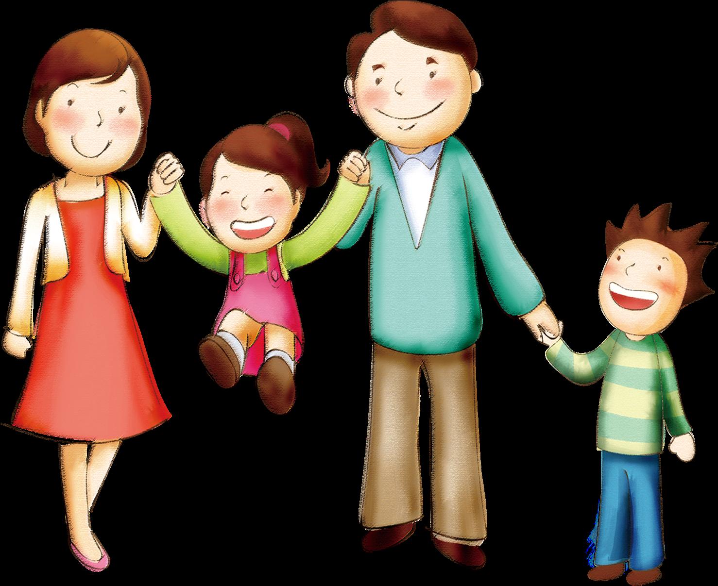 Картинки человечки семья, сделать гиф