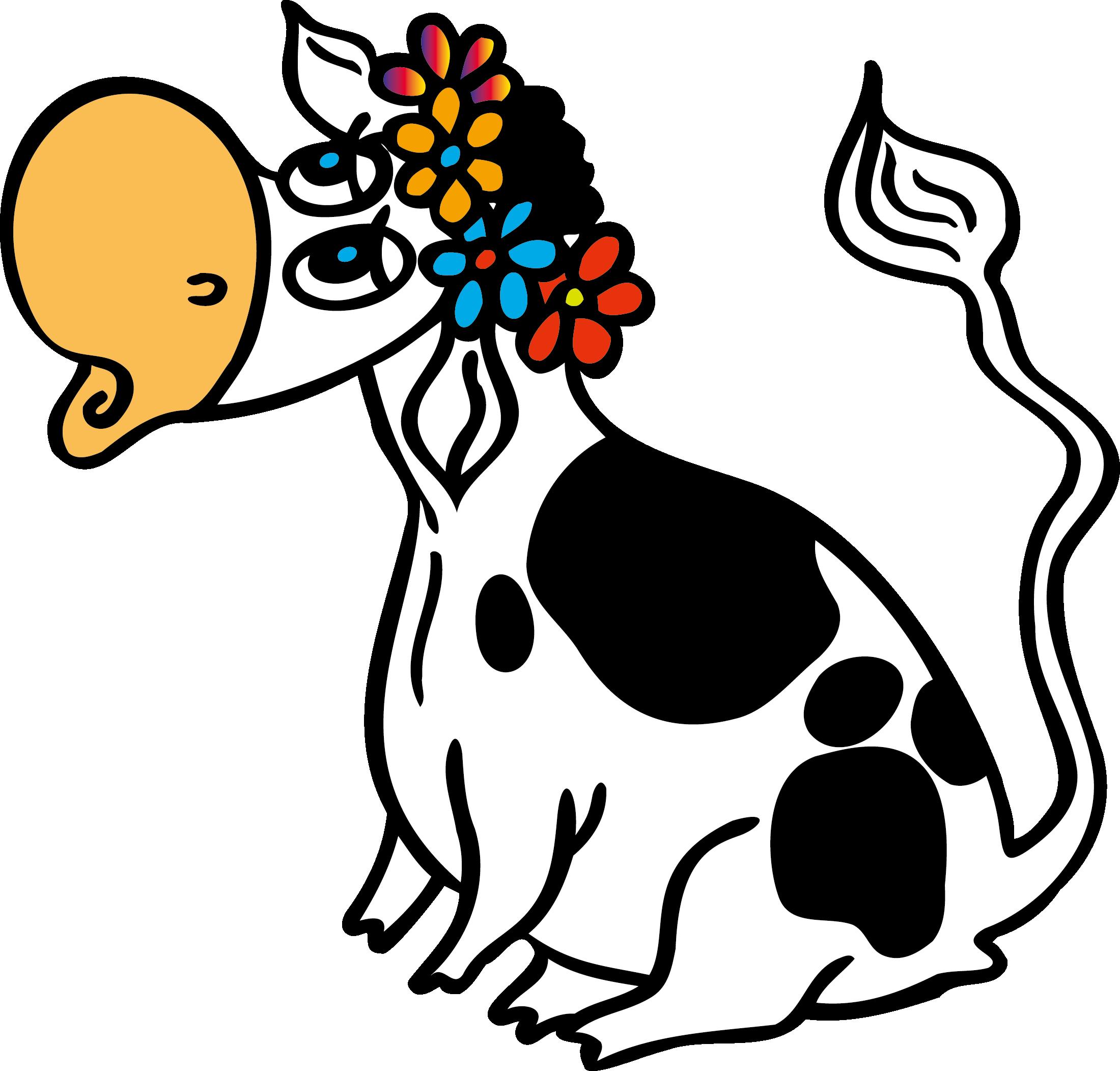 Смешная корова рисунок