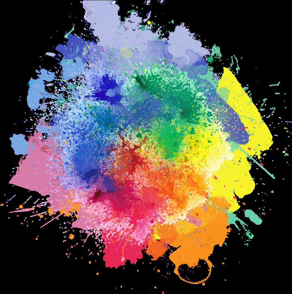 Powder Clipart - - Watercolor Color Splash Png (1600x1200)