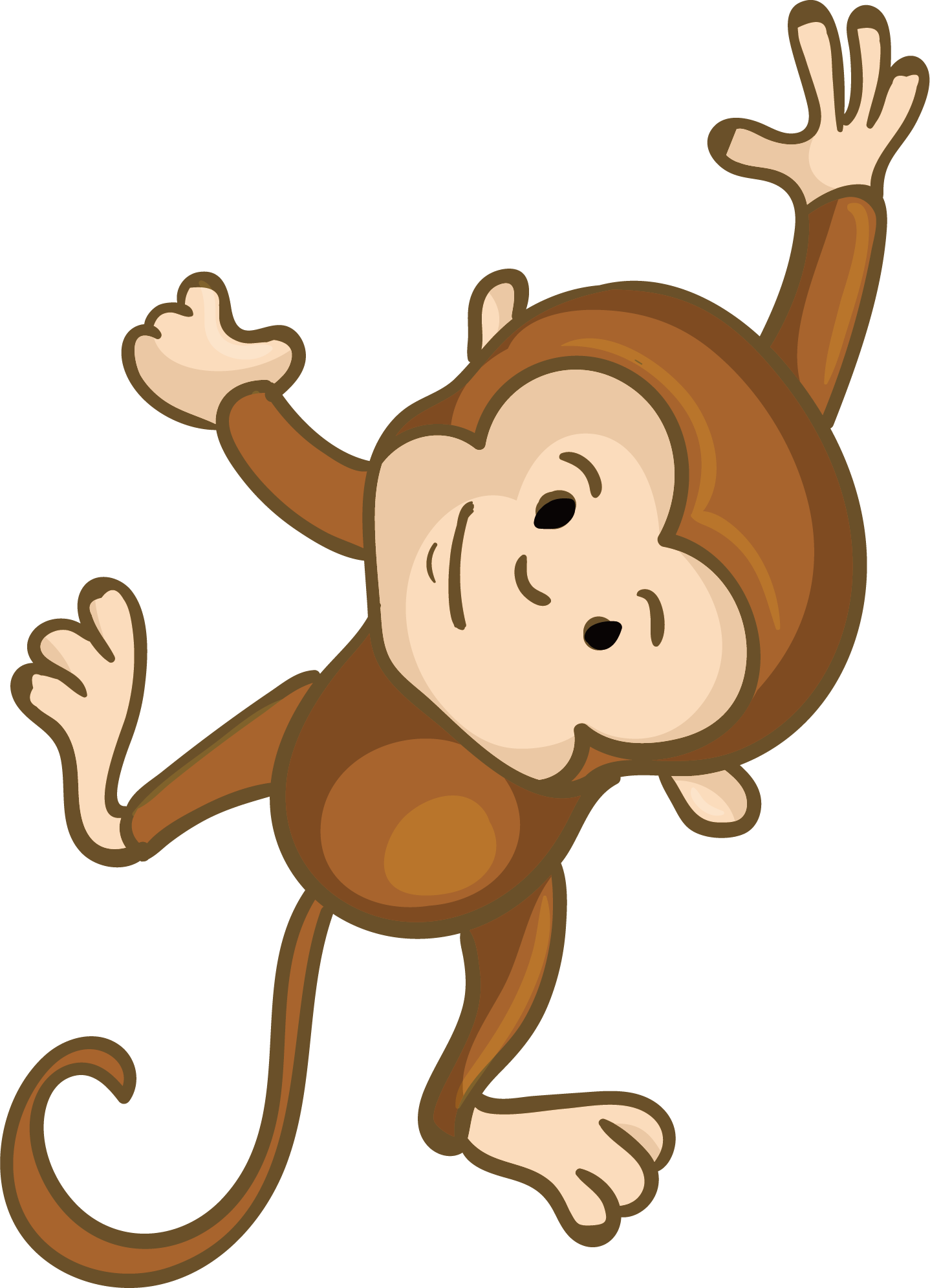 Поздравительную открытку, рисунок обезьянки для детей
