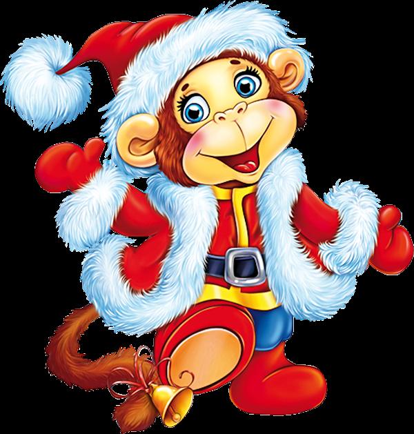 Картинки на новый год обезьянка
