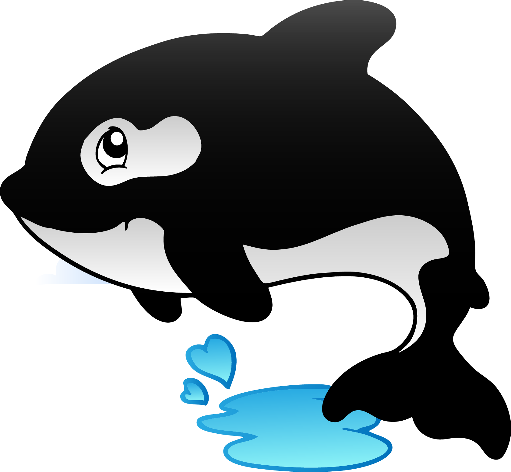 Killer Whale Birthday Cake Balloon - Cute Fish Clipart (1678x1552)