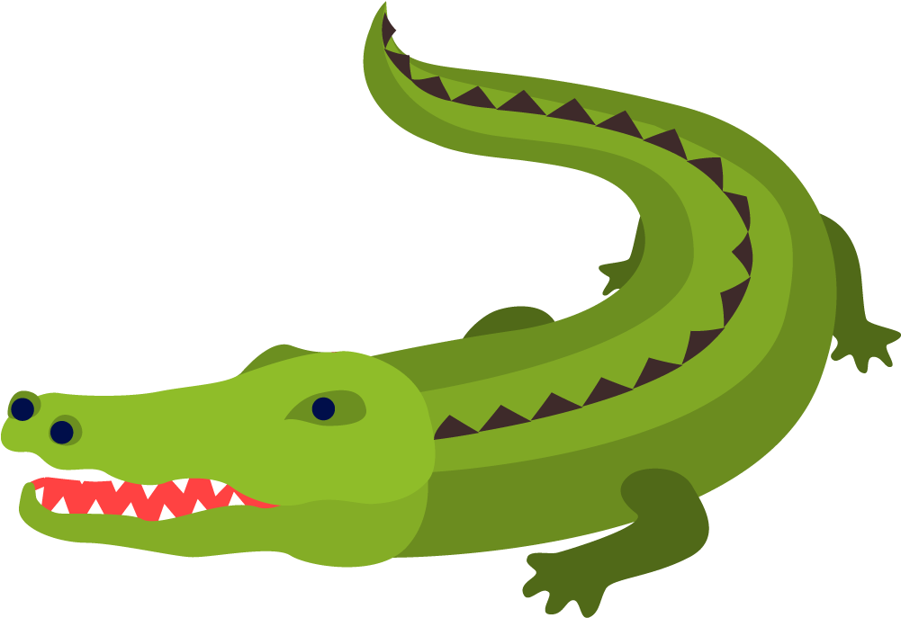 Crocodile Alligator Cartoon - American Crocodile (1000x1000)