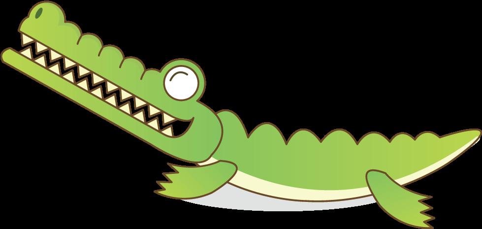 Crocodile Alligator Cartoon - Crocodile Cartoon Png (1000x700)