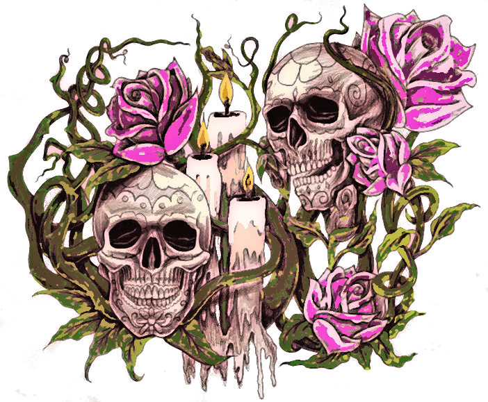 What Is The Meaning Of A Skull And Rose Tattoo Youtube Money Roses