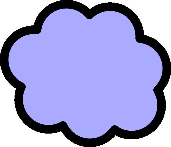 Light Blue Cloud Clip Art At Clker - Clipart Light Purple Cloud (600x514)