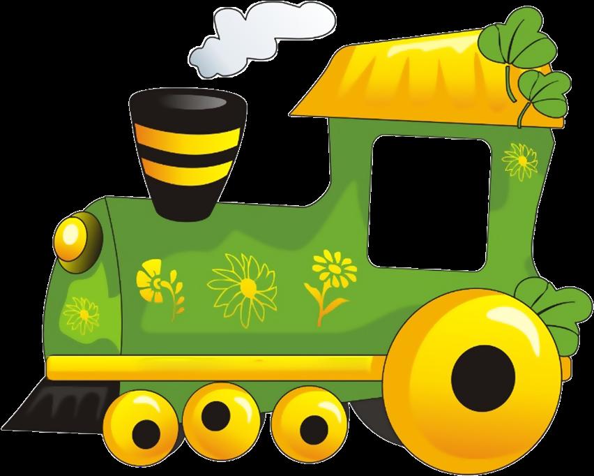 Картинка рисунка паровозика с вагонами для