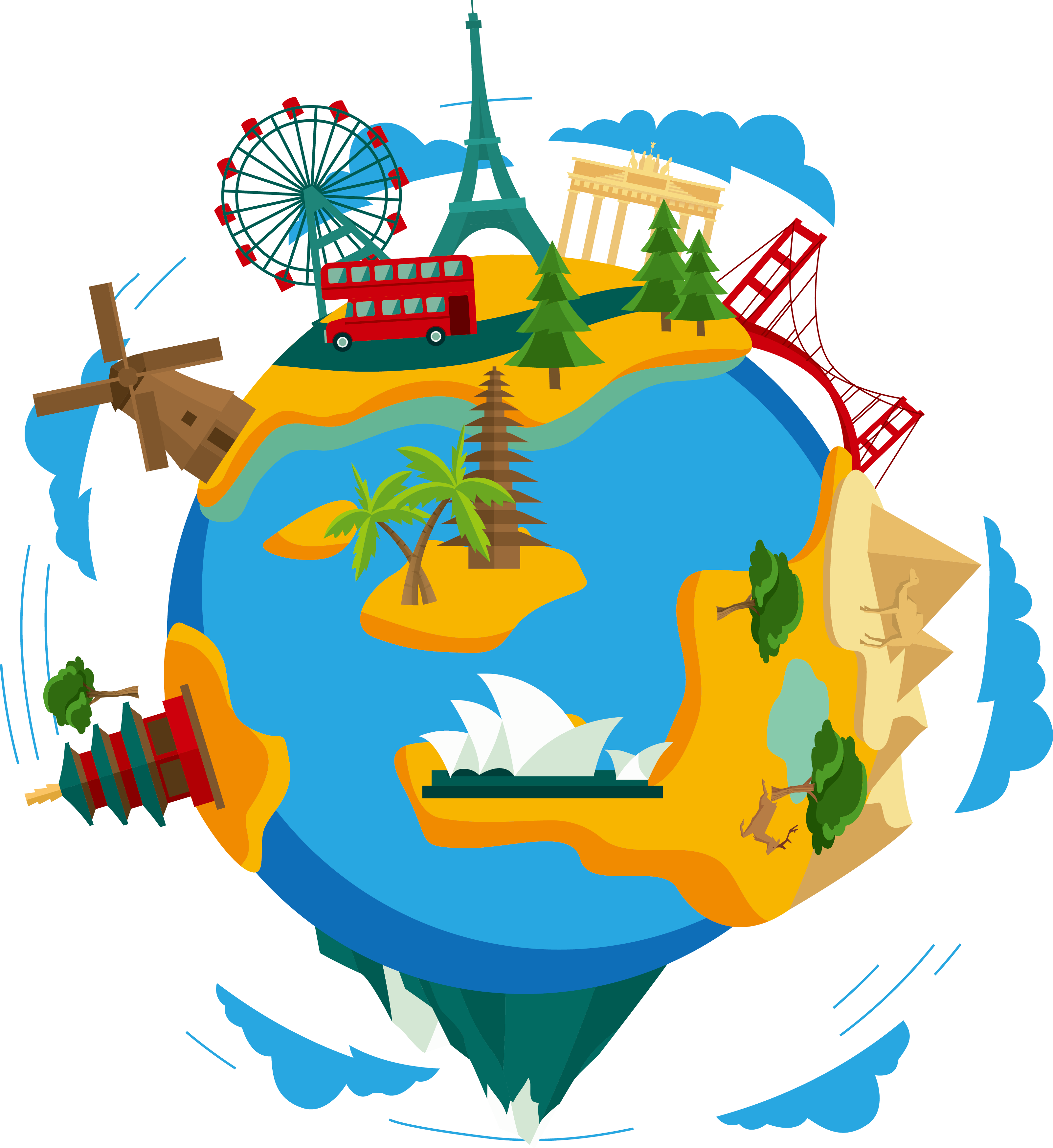 картинки земной шар путешествия для