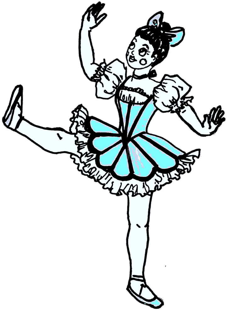 Ar-130409928 Updated= - Coloring Pages Ballet Dancer Coppelia (737x1024)