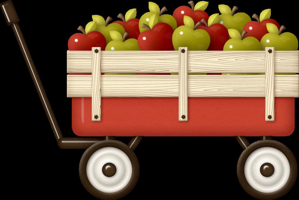 Ladylony Альбом «скрап-наборы / Farmyard Friends» На - Wagon Full Of Apples (1024x685)