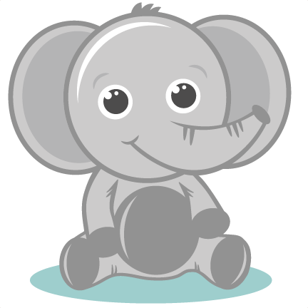 Cute Baby Zoo Animals Clipart Clipartxtras - Cute Baby Elephant Png (432x432)