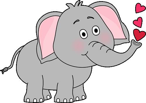 Trunk Clipart Animal Face - Elephant Clipart (500x355)