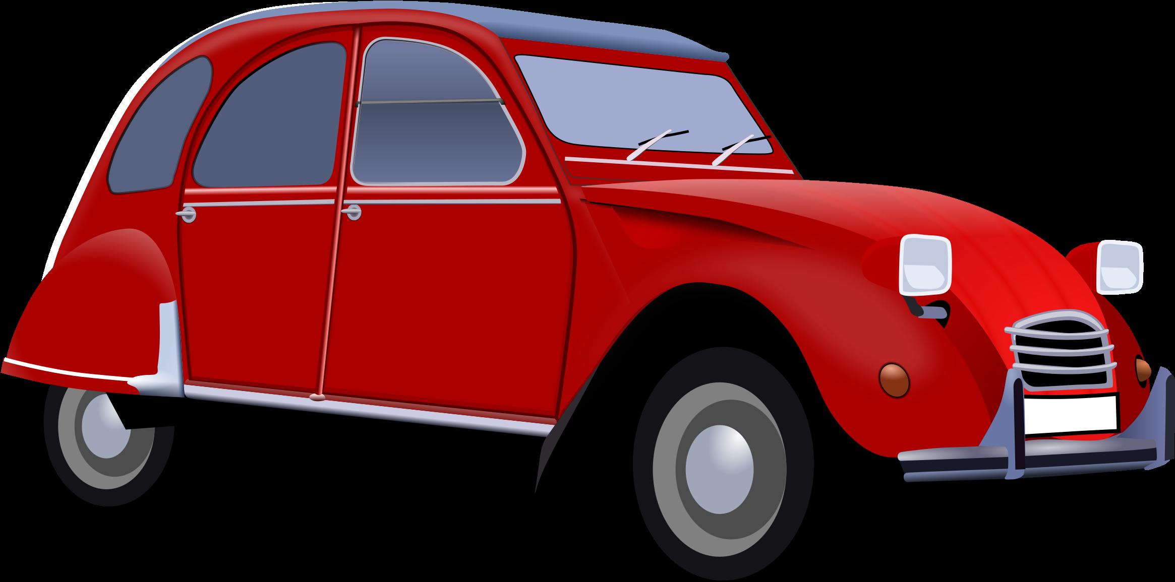 Картинка красная машинка для детей на прозрачном фоне