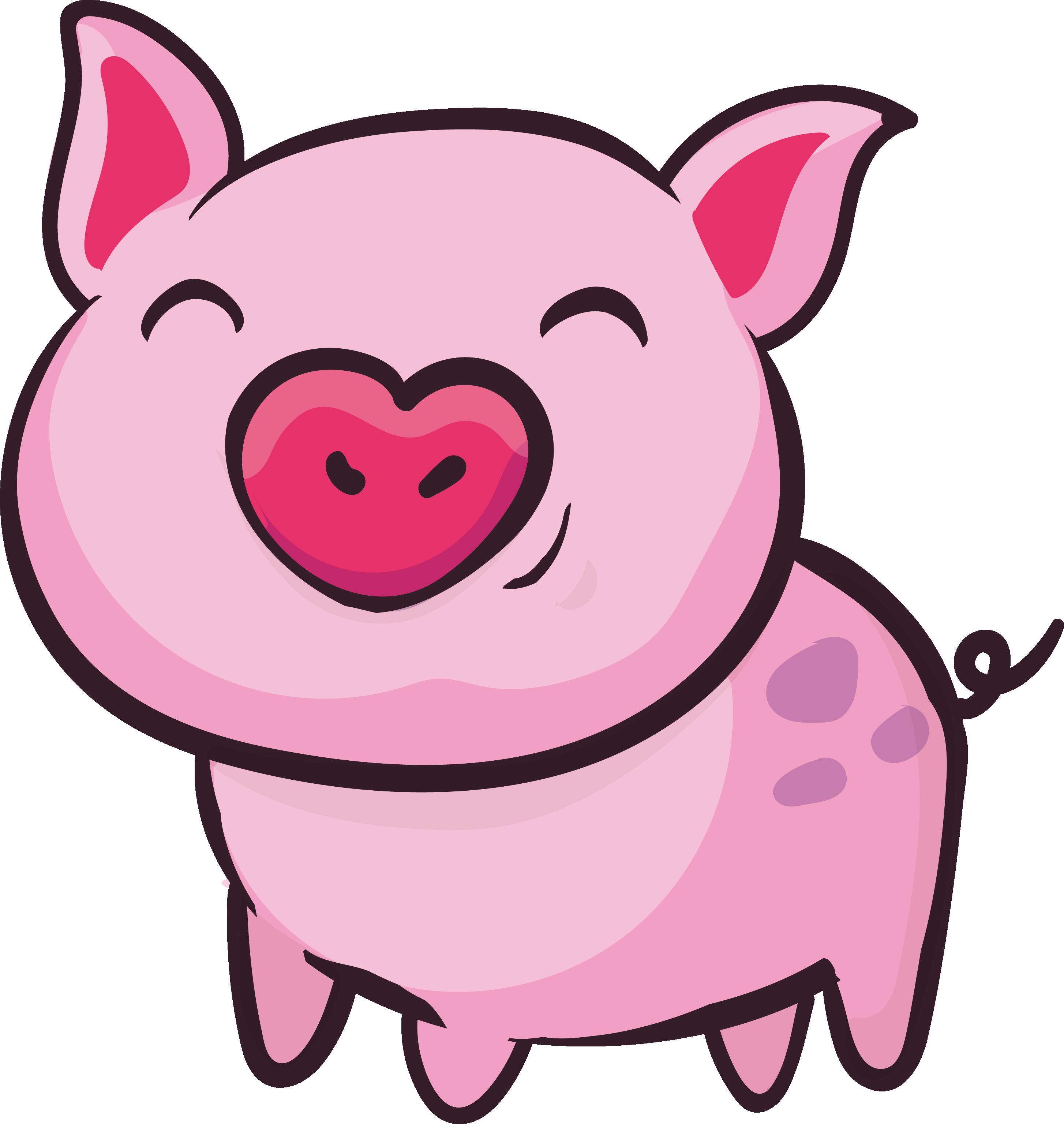 Свинья картинки нарисованные